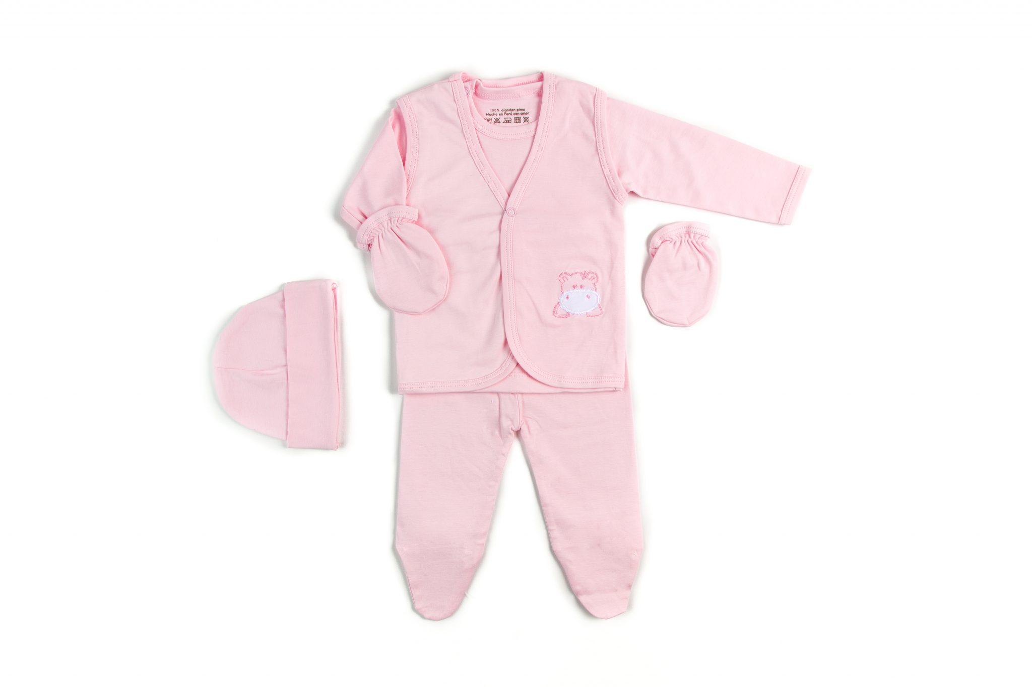 Ajuar Bordado Bebé 5 Piezas Hipopótamo Niña • Moonwear 8bfd4a78ce8d