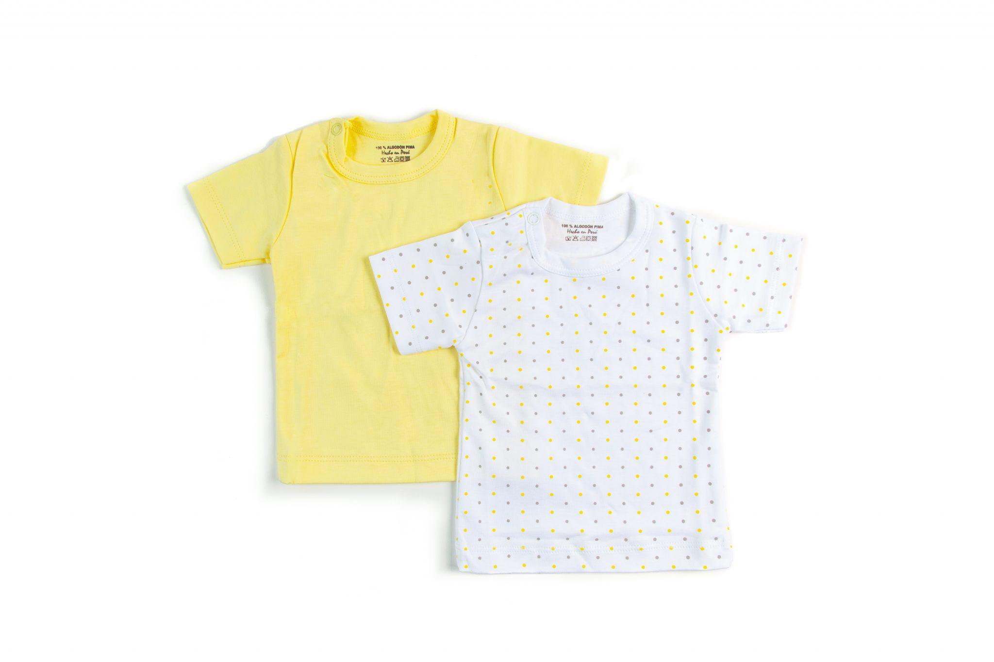 Pack 2 Camisetas Lunares Amarillos • Moonwear de92e13f832e