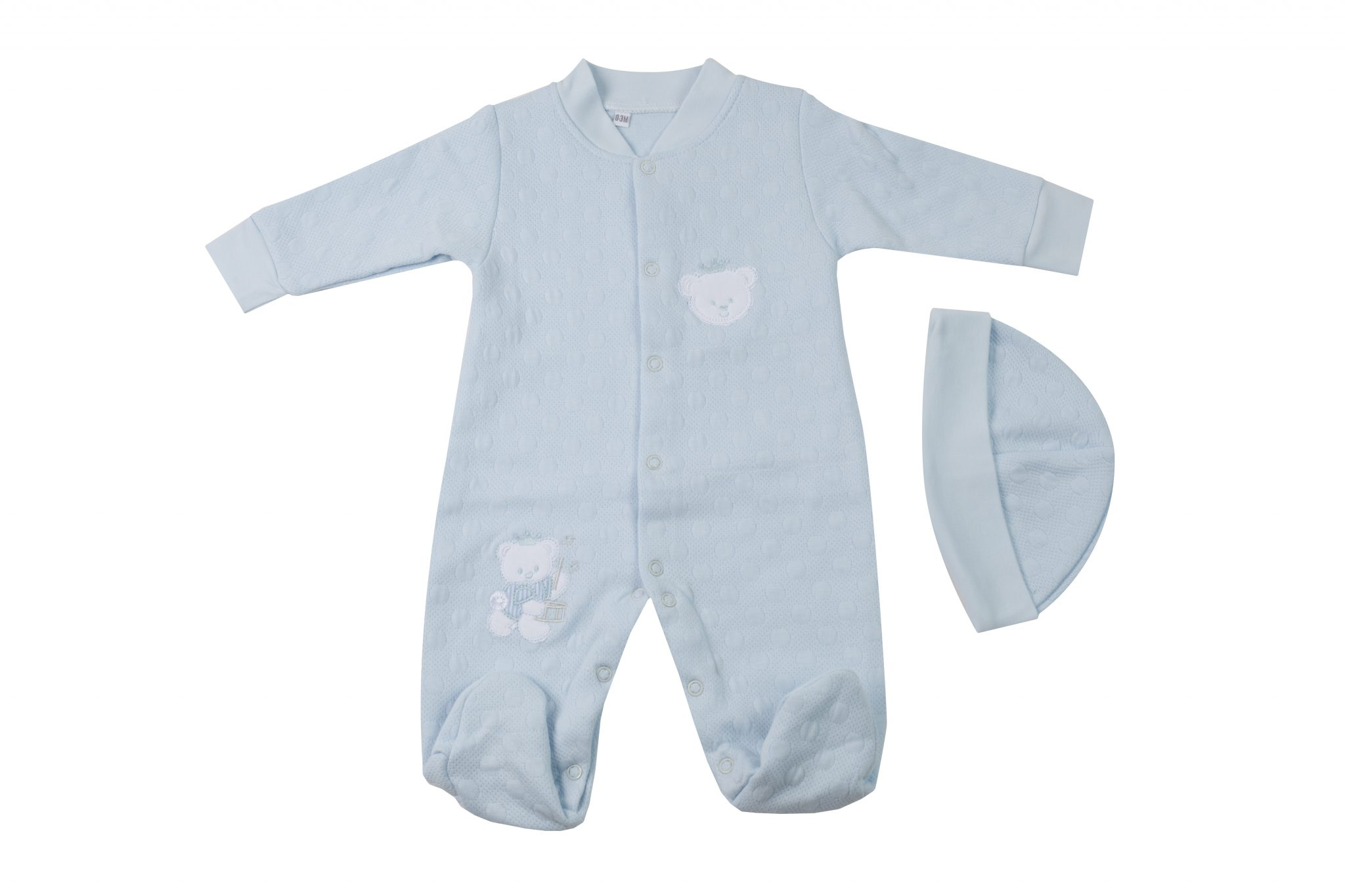 Enterito Bordado Bear Celeste • Moonwear 87df7205d772