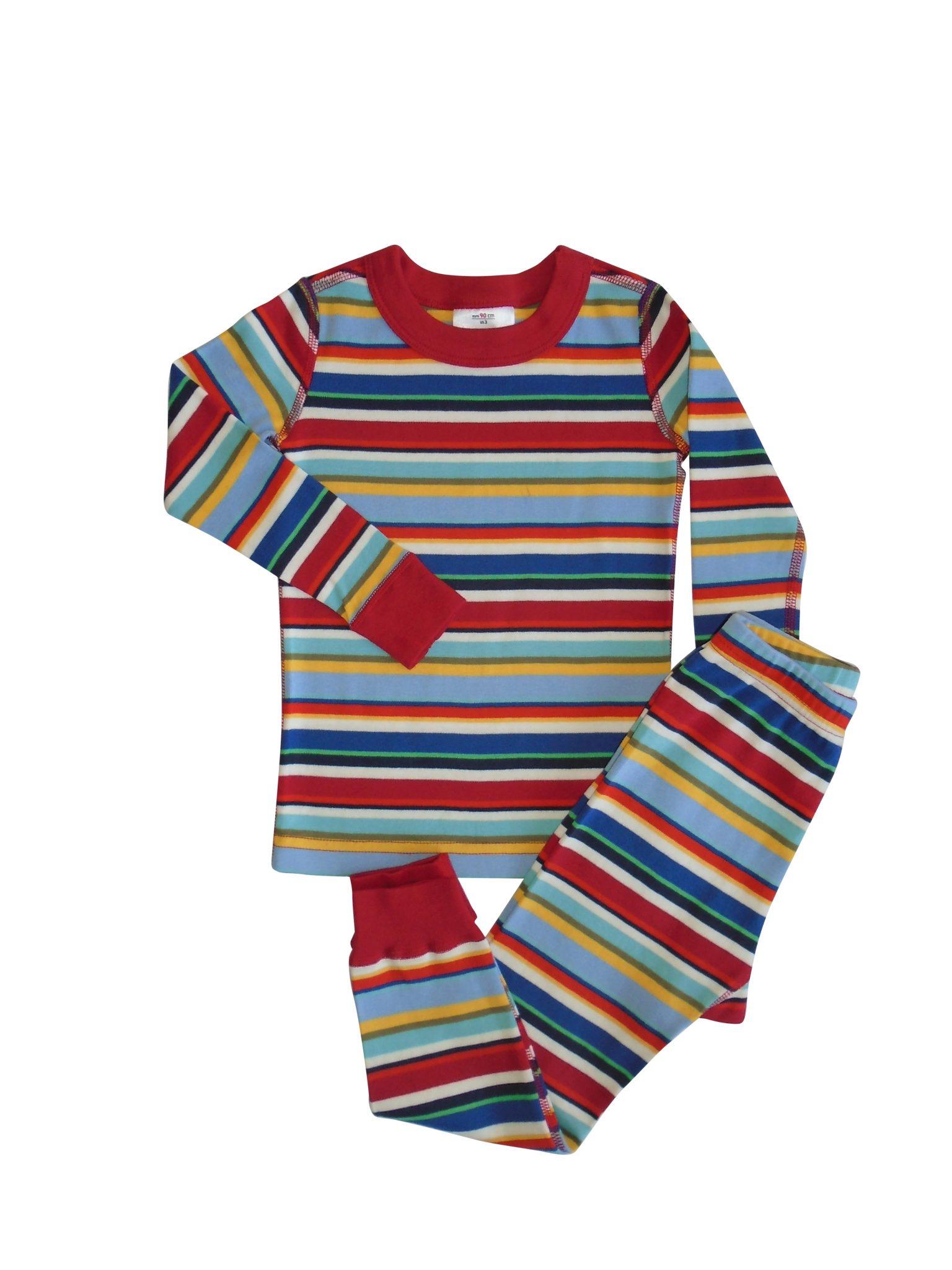 Pijama Listado Multicolor Orgánico 2 Piezas • Moonwear 5f1ac1723bff