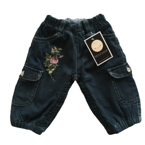 JEANS FLOWERS BORDADO NIÑA